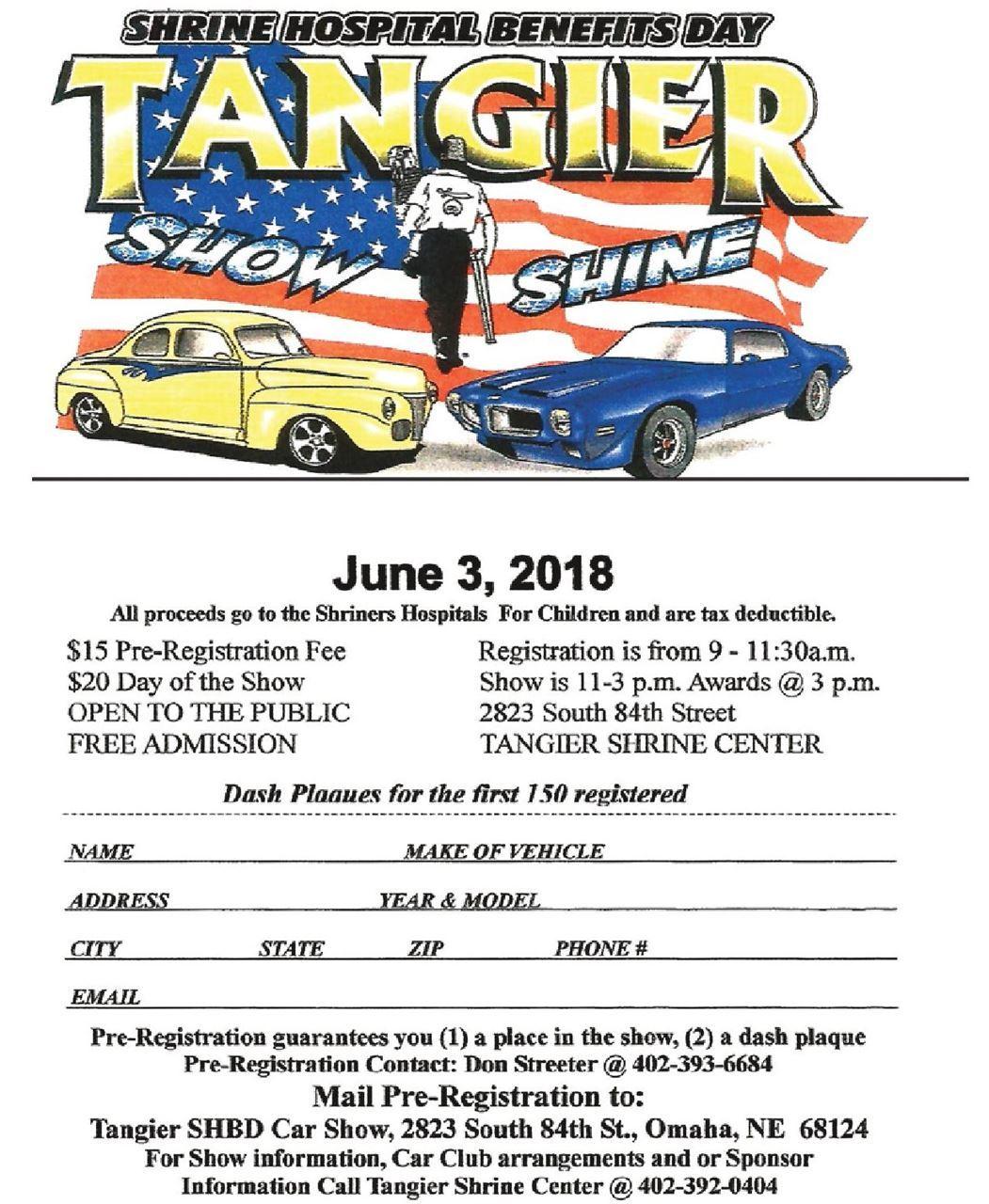 Tangier Shrine Tangier Show And Shine - Omaha car show